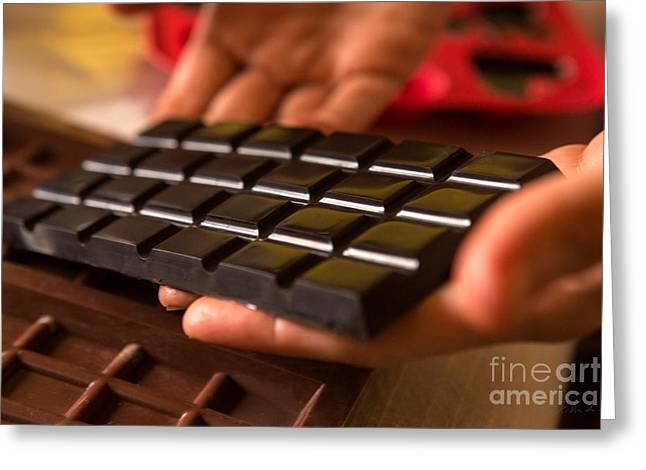 Handmade Organic Dark Chocolate Greeting Card by Iris Richardson
