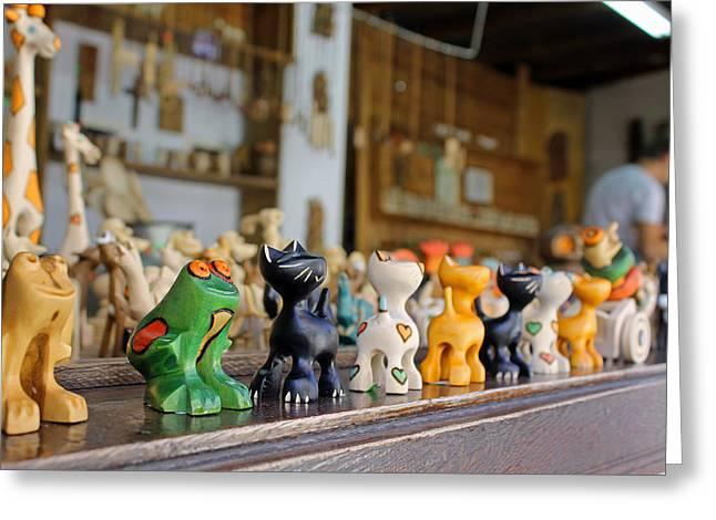 Handmade Toys Greeting Card by Tony Murtagh