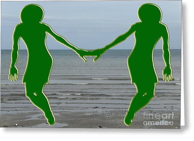 Hands Across The Ocean Greeting Card by Patrick J Murphy