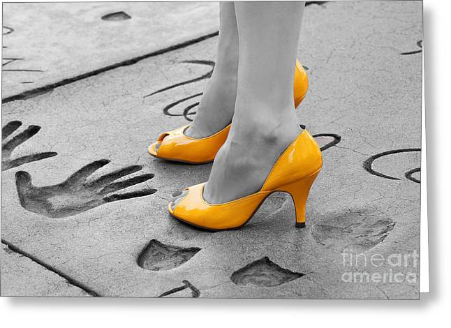 Hands And Feet Greeting Card by Dan Holm