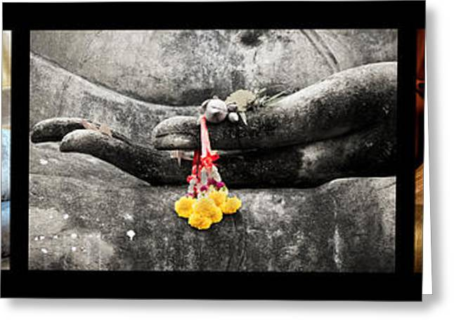 Hands Of Buddha Greeting Card by Adrian Evans