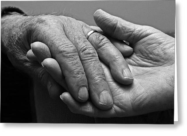Greeting Card featuring the photograph Hands Of Love by Barbara West