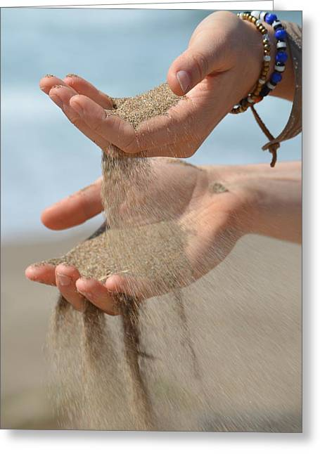 Hands Of Sands Greeting Card by Deprise Brescia