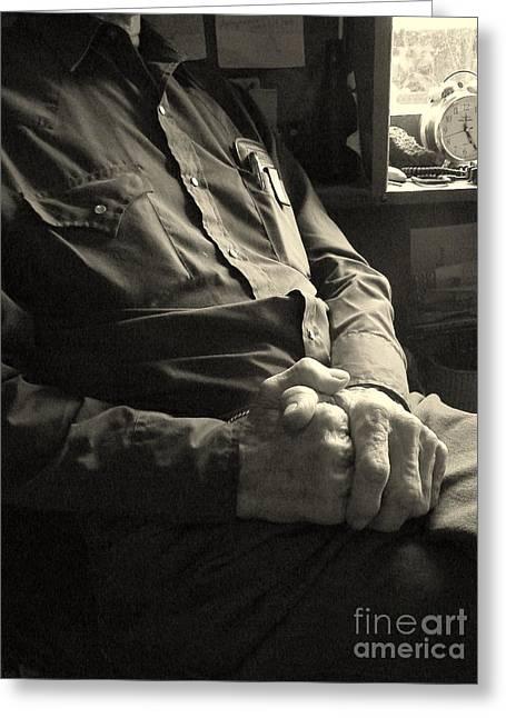 Hands Of Time Greeting Card by Joe Jake Pratt