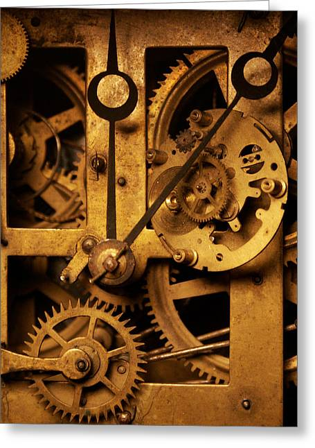 Hands Of Time Greeting Card by Jon Emery