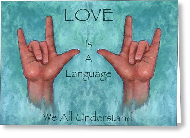 Hands Signing Love Greeting Card by Joyce Geleynse