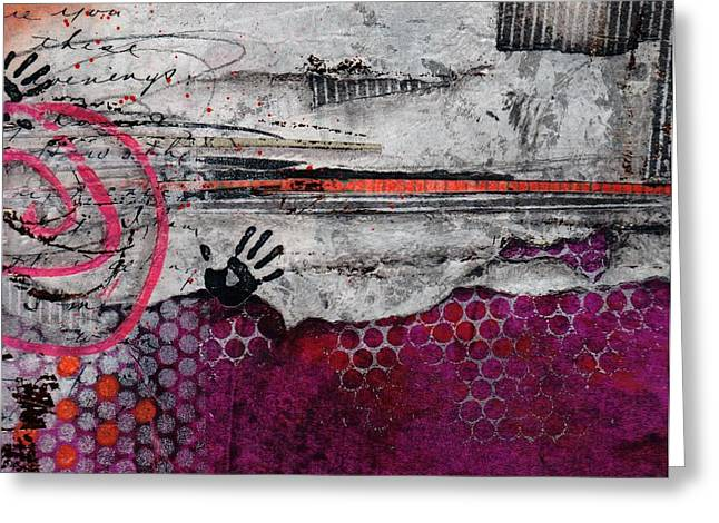 Hands Up Greeting Card by Laura  Lein-Svencner