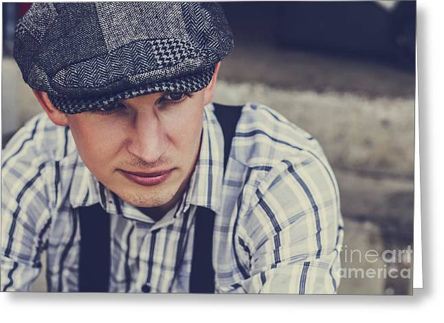 Handsome Fashionable Man In Vintage Apparel Greeting Card by Jorgo Photography - Wall Art Gallery