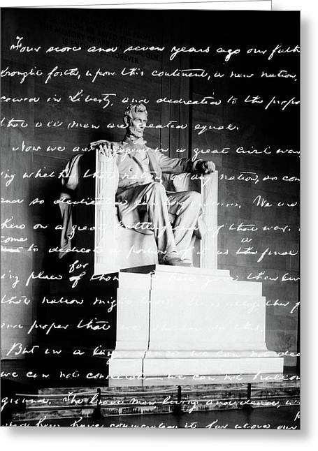 Handwritten Gettysburg Address Greeting Card