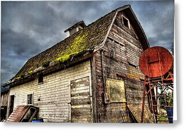 Handy Barn Greeting Card by Arthur Fix