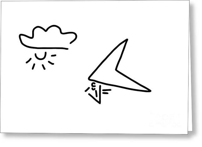 Hang-glider Aviation Greeting Card