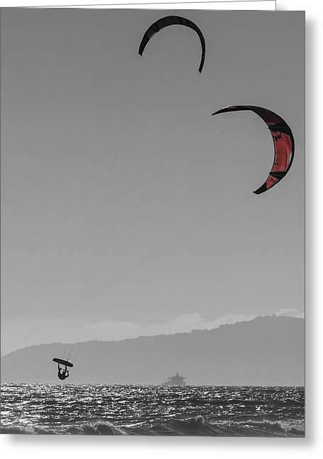 Hang Time Greeting Card by Scott Campbell