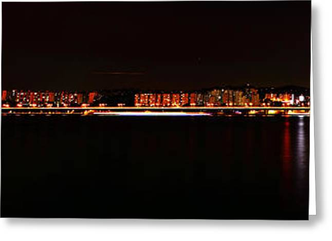 Hangang And Seoul Night Scene Panorama Greeting Card by Phoresto Kim