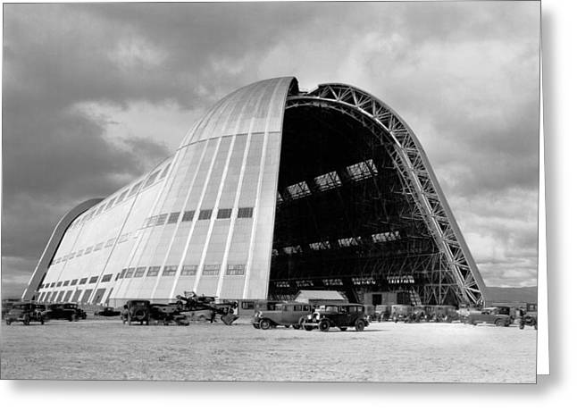 Hangar One At Moffett Field Greeting Card