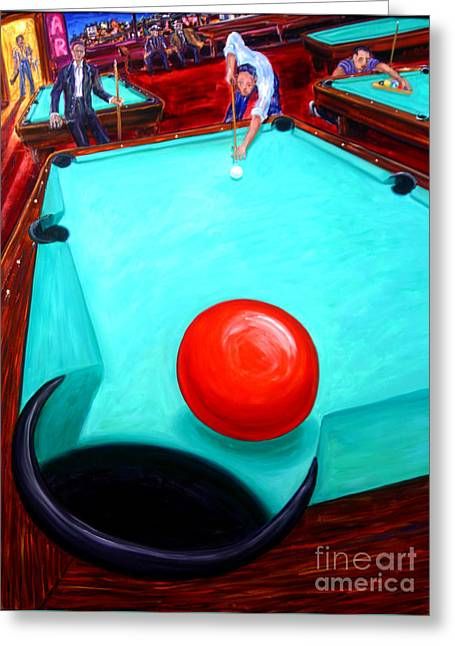 Pool table greeting cards page 8 of 17 fine art america hanger greeting card m4hsunfo