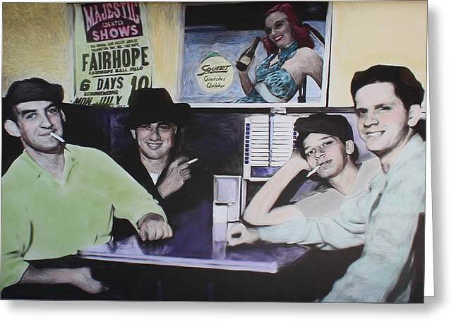 Hanging At The Diner 1949 Greeting Card