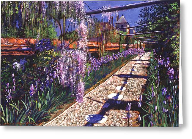 Hanging Garden Greeting Card by David Lloyd Glover