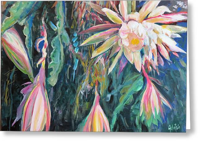 Hanging Garden Floral Greeting Card by John Fish