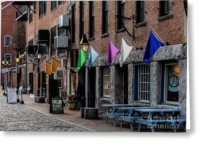Hanging In The Old Port Greeting Card by Joe Faragalli