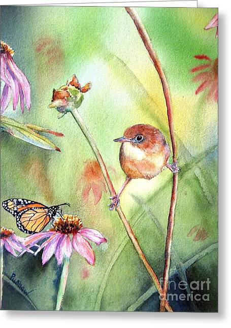 Hanging In There Greeting Card by Patricia Pushaw