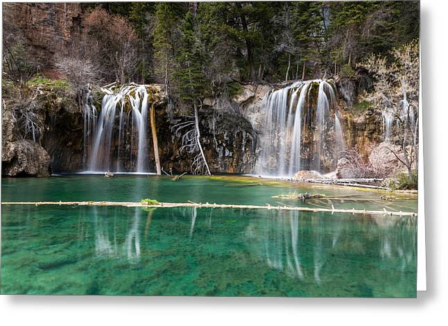 Greeting Card featuring the photograph Hanging Lake by Jay Stockhaus