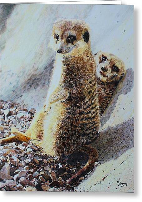 Hanging Out Greeting Card by Bernd Huss