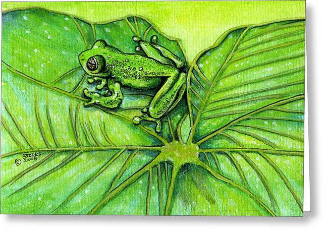 Hanging Out By Richard Brooks. Greeting Card