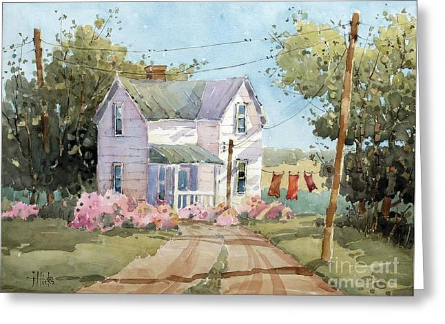 Hanging Out In Illinois By Joyce Hicks Greeting Card by Joyce Hicks