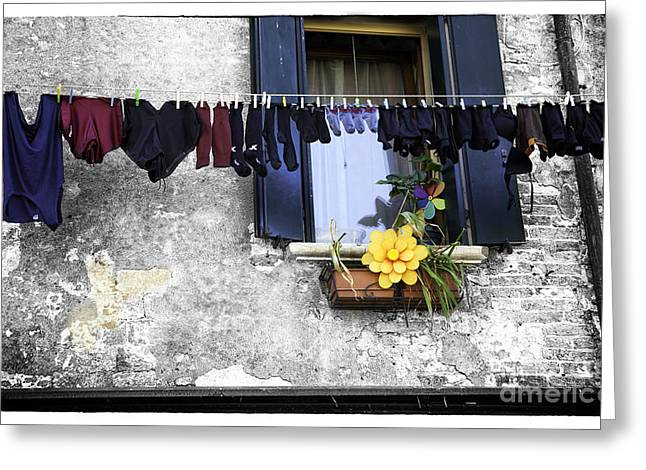 Hanging Out To Dry In Venice 2 Greeting Card by Madeline Ellis