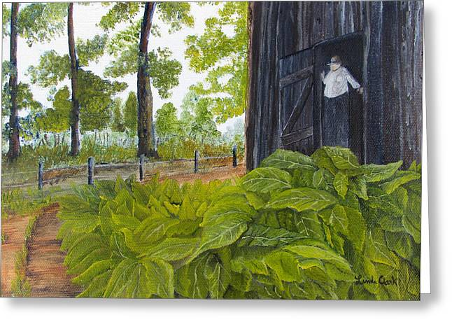 Hanging Tobacco Greeting Card