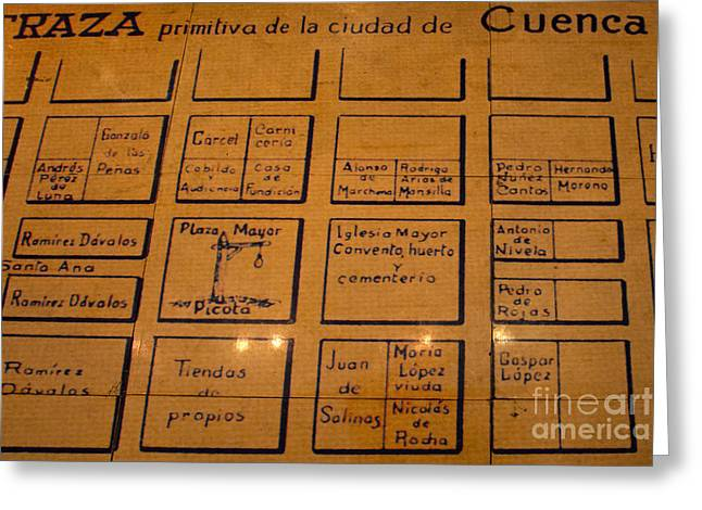 Hangman's Square In Old Downtown Cuenca Ecuador Greeting Card by Al Bourassa