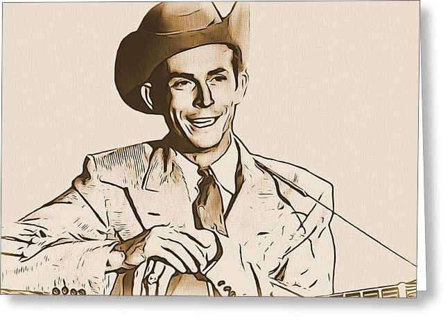 Hank Williams Greeting Card by Dan Sproul