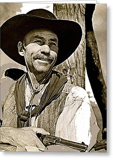 Hank Worden Publicity Photo Red River 1948-2013 Greeting Card by David Lee Guss