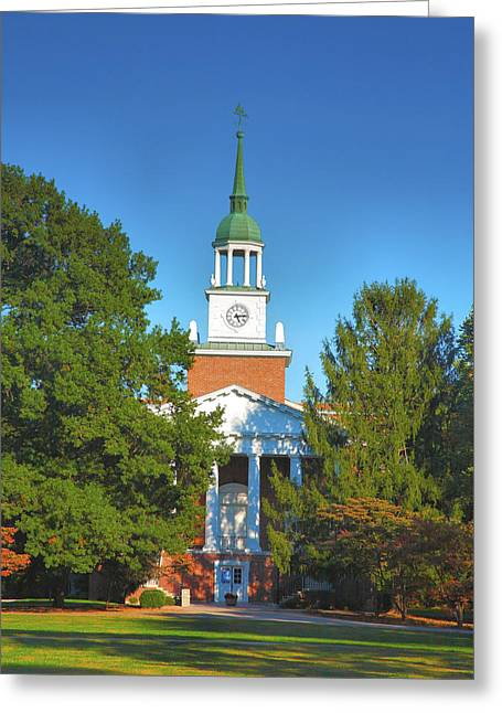 Hanover College Greeting Card by Steven Ainsworth