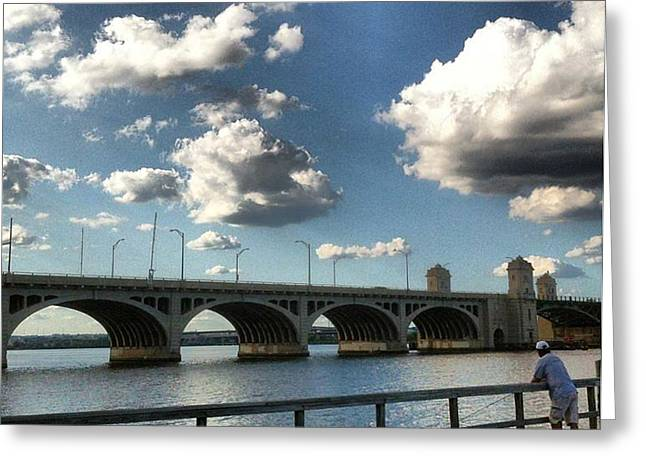 Hanover Street Bridge Greeting Card by Toni Martsoukos