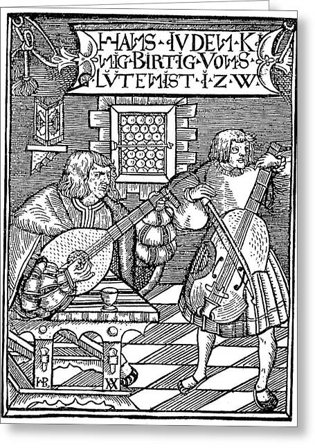 Hans Judenkunig, 1523 Greeting Card by Granger