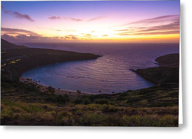 Hanuama Crater Rim Sunrise Greeting Card by Brian Governale