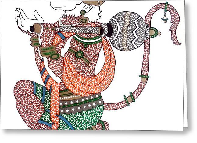 Hanuman Greeting Card by Kruti Shah