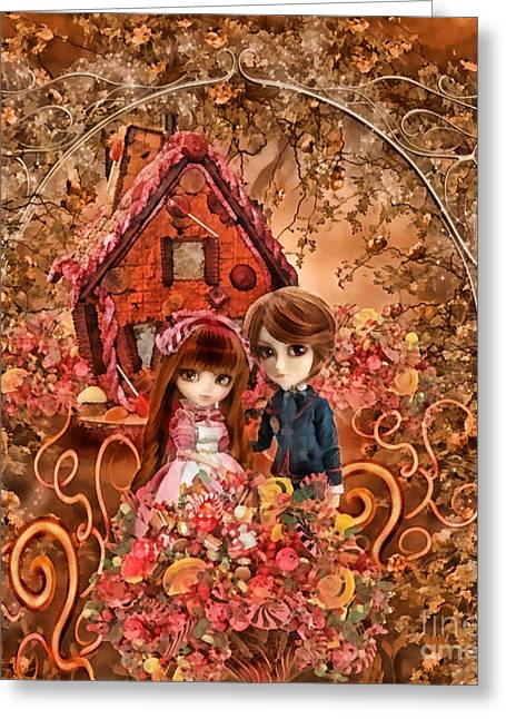 Hanzel And Gretel Greeting Card by Mo T