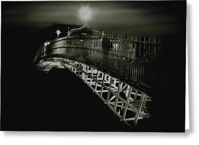 Ha'penny By Night Greeting Card by Louise Fahy