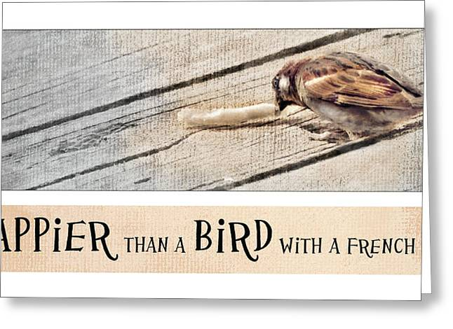 Happier Than A Bird Greeting Card by Robin-Lee Vieira