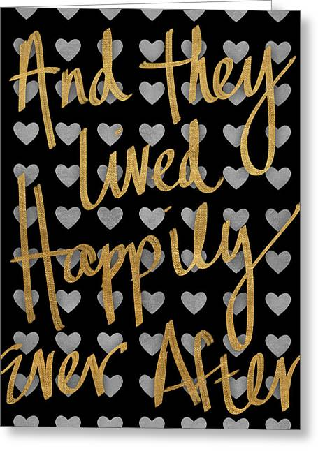Happily Ever After Pattern Greeting Card by South Social Studio