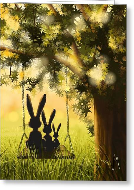 Happily Together Greeting Card by Veronica Minozzi