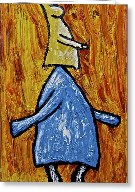 Greeting Card featuring the painting Happiness 12-004 by Mario Perron