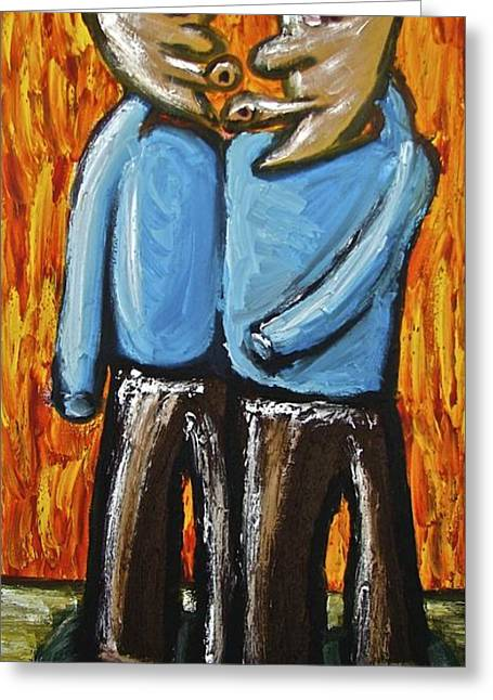 Greeting Card featuring the painting Happiness 12-008 by Mario Perron