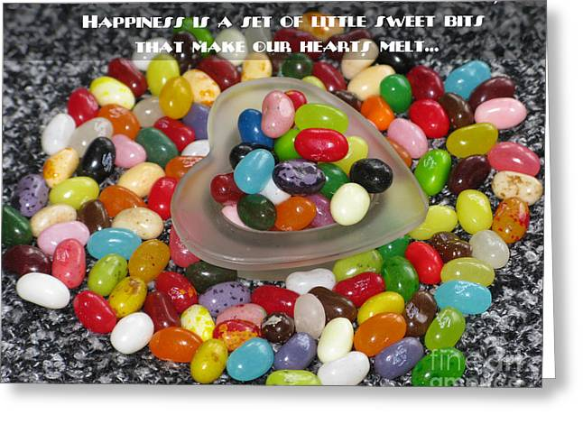 Happiness Is Made Of Tiny Bits Greeting Card by Ausra Huntington nee Paulauskaite