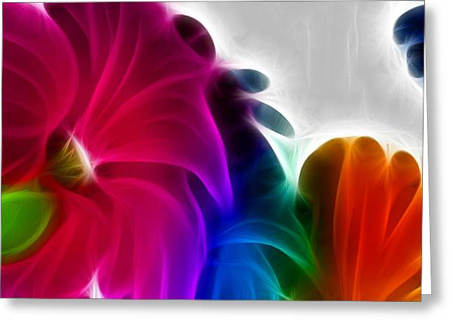 Greeting Card featuring the digital art Happiness by Karen Showell