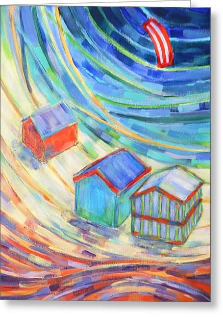 Happiness On Port Philip Bay 1 Greeting Card by Zofia  Kijak