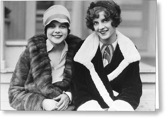 Happy Actresses Greeting Card by Underwood Archives