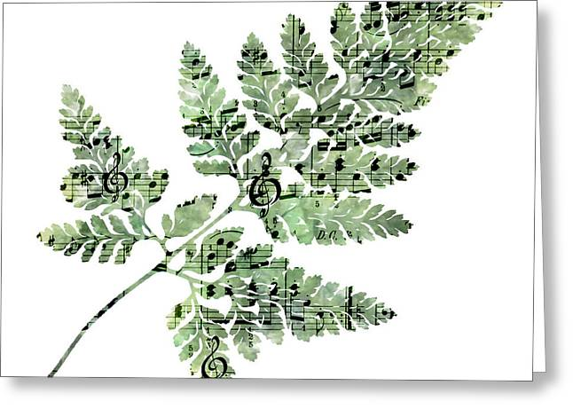 Greeting Card featuring the photograph Happy Adventure Music Fern by Sandra Foster
